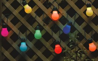 Set of 20 Colour Changing LED String Lights by Smart Solar