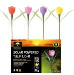 Solar Powered LED Tulip Light - Lilac