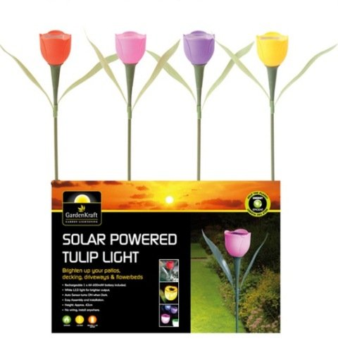 Solar Powered LED Tulip Light - Pink