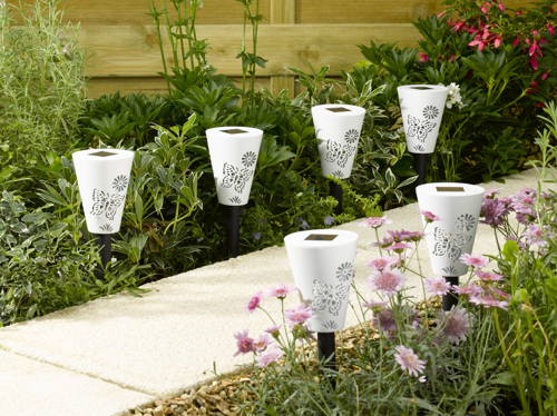 Butterfly Silhouette Stake Solar Lights - Pack of 6