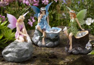 Set of 3 Solar Powered Fairy Spotlights