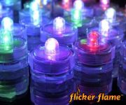 Flicker Flame� Submersible LED Colour Changing Tealights - 6 Pack
