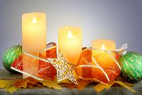 Flicker Flame� Set of 3 Dancing LED Church Wax Candles