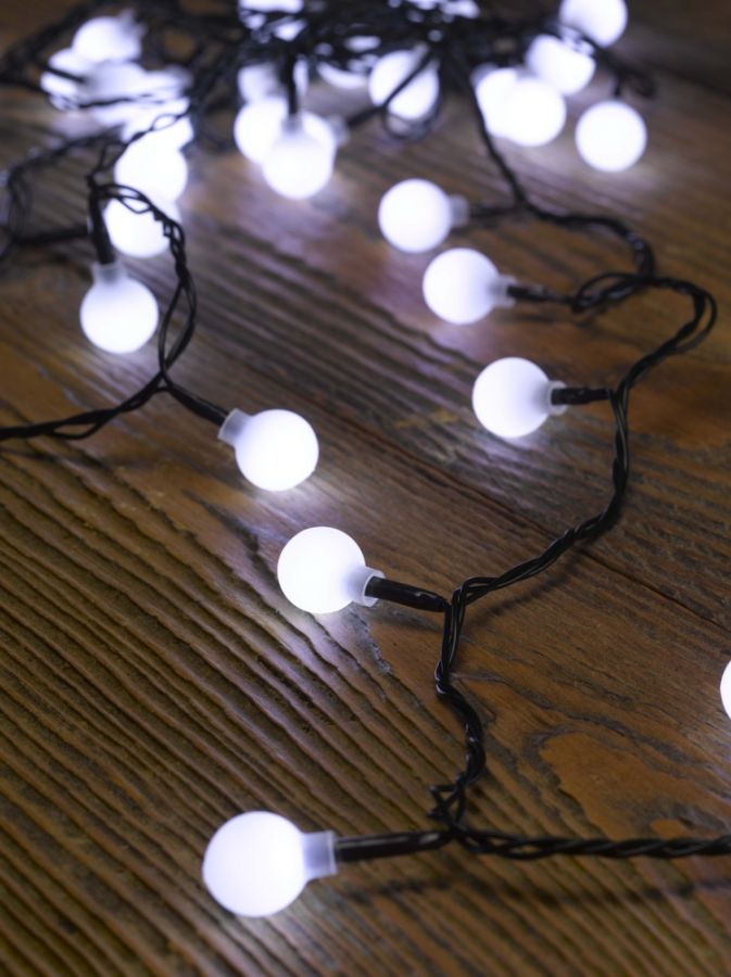 Smart Garden 50 Led Ball String Lights Battery Powered 163 9 99