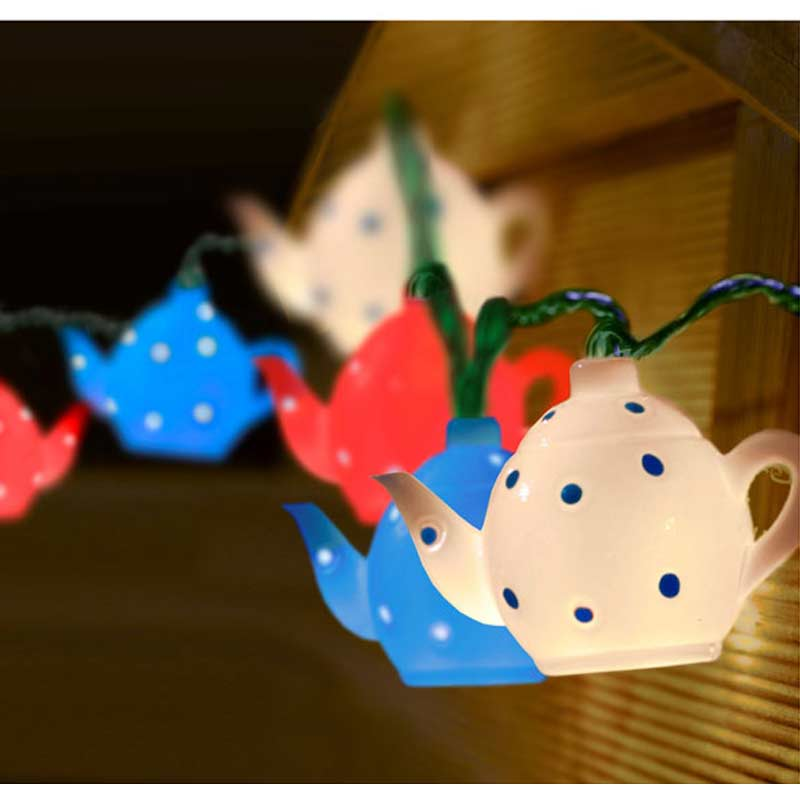 Smart Garden 10 LED Teapot String Light - Battery Powered