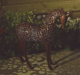 Smart Solar Sillhouette Garden Light - Horse