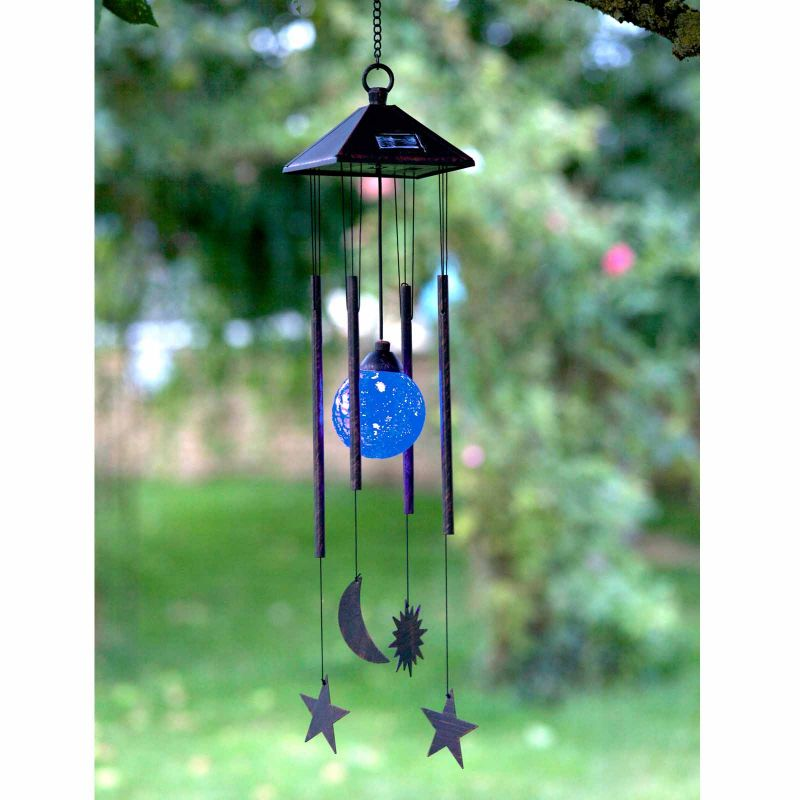 Smart Garden Solar Sun, Moon and Star Windchime Light