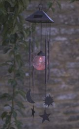 Solar Sun Moon and Star Wind chime Light by Smart Garden