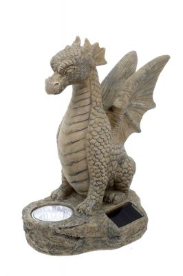 Smart Garden Solar Powered Dragon Statue with Light