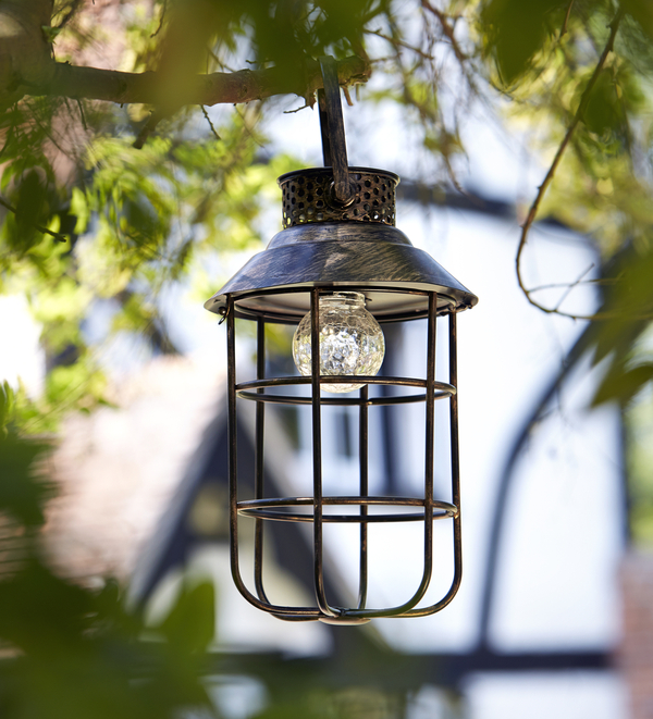 Zephyr Smart Solar Decorative Metal Garden Lantern