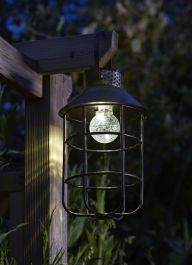 Zephyr Solar Powered Decorative Metal Garden Lantern by Smart Solar