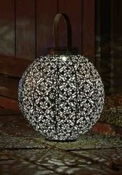 Damasque Solar Powered Decorative Garden Lantern by Smart Solar