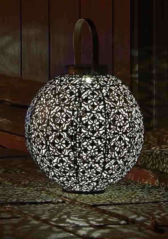 Damasque Metal Smart Solar Decorative Garden Lantern - Solar Light