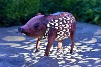 Smart Garden Solar Powered Metal Decorative Pig Silhouette