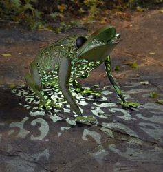 Smart Garden Solar Powered Metal Decorative Frog Silhouette