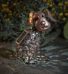 Solar Powered Metal Decorative Dog Silhouette by Smart Garden