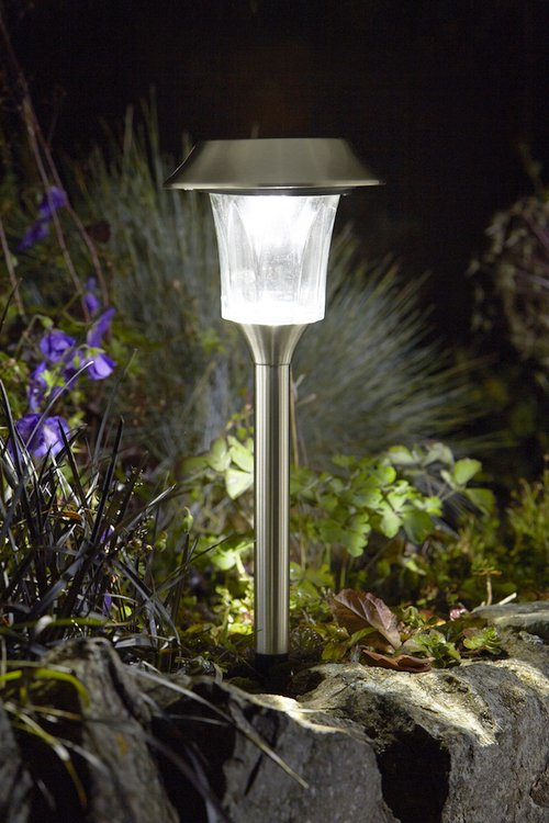 Smart Solar Subra Stake Super Bright Solar Powered Lights - Set of 4