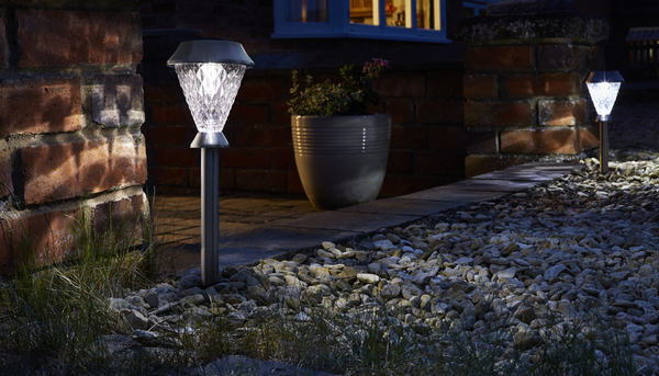 Smart Solar Bianca Stake Super Bright Solar Powered Lights - Set of 4