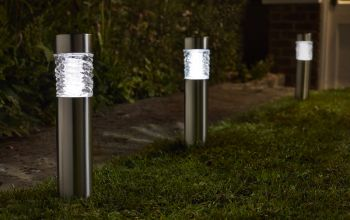 Smart Solar Stella Super Bright Solar Powered Bollard Lights - Set of 4