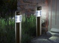 Smart Solar Pharos Super Bright Motion Activated Garden Bollard Solar Powered Lights - Set of 2