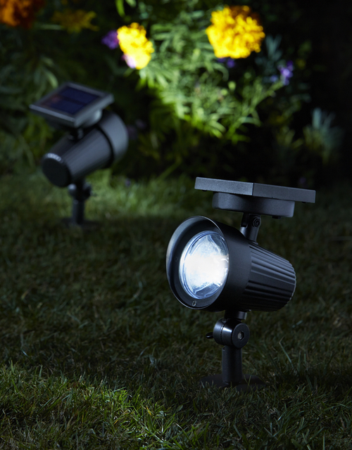 Smart Solar Ultra Super Bright Garden Solar Powered Spotlights - Set of 2