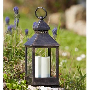 Smart Garden Kentish Decorative Garden Light Battery Powered LED Flickering Candle Lantern - Set of 2