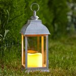 Smart Garden Dorset Decorative Garden Light LED Flickering Candle Lantern - Set of 2