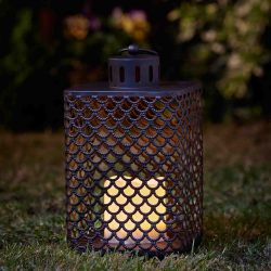 Smart Garden Cairene Decorative Garden Light Battery Powered LED Flickering Candle Lantern - Set of 2