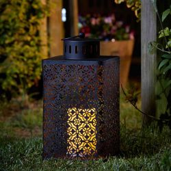 Smart Garden Ottoman Decorative Garden Light Battery Powered LED Flickering Candle Lantern