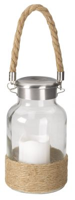 Smart Garden Portsmouth Decorative Garden Battery Powered Light LED Flickering Candle Glass Lantern