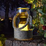 Smart Garden Portsmouth Decorative Garden Light LED Flickering Candle Glass Lantern