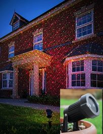 Laser Light Display Remote Control Garden Patio Spotlight
