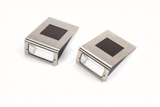 Solar Wall Lights - Set of 2
