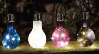 18cm Smart Garden Eureka! Beta PLUS Battery Lightbulb - Coloured - 4 Pack