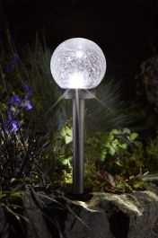 5L Solar Powered Aurora Stainless Steel Stake Light by Smart Solar
