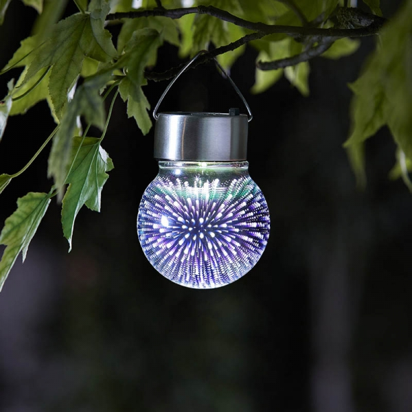Smart Garden Solar Powered 3d Cosmos Hanging Globe Light