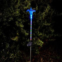 Solar Powered Coloured Flower Burst Stake Light by Smart Solar