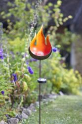 Solar Powered Decorative Flame Stake Light by Smart Garden