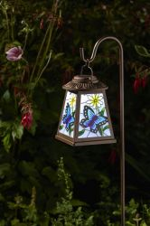 Solar Powered Decorative Butterfly Pattern Lantern Light by Smart Garden