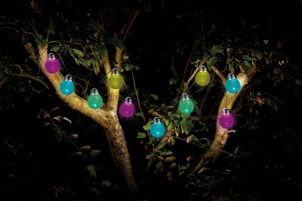 Smart Garden - Solar Powered 10 Crackle Globe String Lights