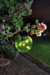 Solar Powered Decorative Green Apple Hanging Light by Smart Garden