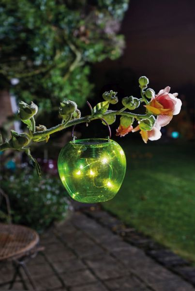 Smart Garden - Solar Powered Decorative Green Apple Hanging Light