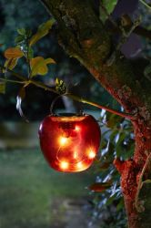 Smart Garden - Solar Powered Decorative Red Apple Hanging Light