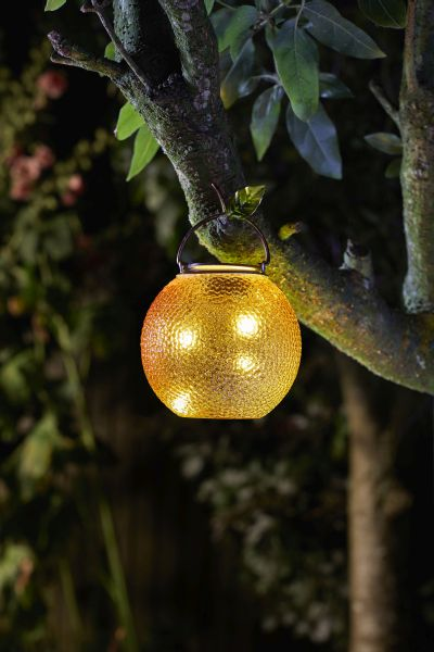 Solar Powered Decorative Orange Hanging Light by Smart Garden