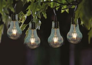 Pack of 4 Eureka! Solar Powered Retro Light Bulbs by Smart Garden