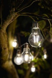 10 Solar Powered Eureka Retro Lightbulb String Lights by Smart Garden
