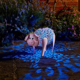 Solar Powered Delilah Pig Multi Coloured Light by Smart Solar