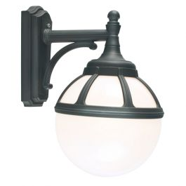 Elstead Bologna Wall Down Black Opal Lens Outdoor Light