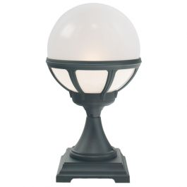 Elstead Bologna Black Opal Lens Outdoor Pedestal Light