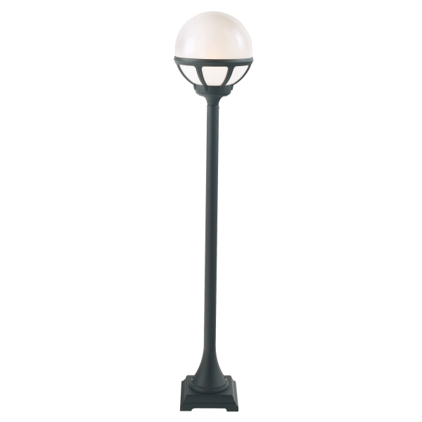 Bologna Black Opal Lens Outdoor Light